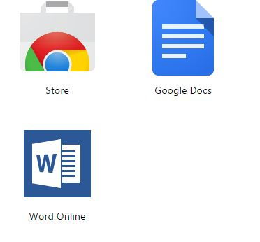 Word Online app in App section after installation