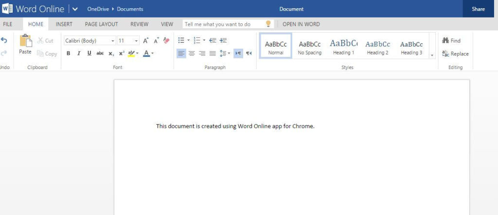 Creating Word documents using Word Online
