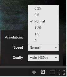changing playback speed of YouTube videos