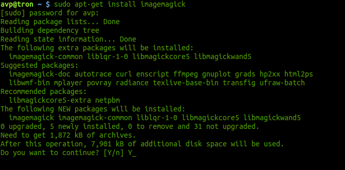 installing imagemagick in Linux Mint