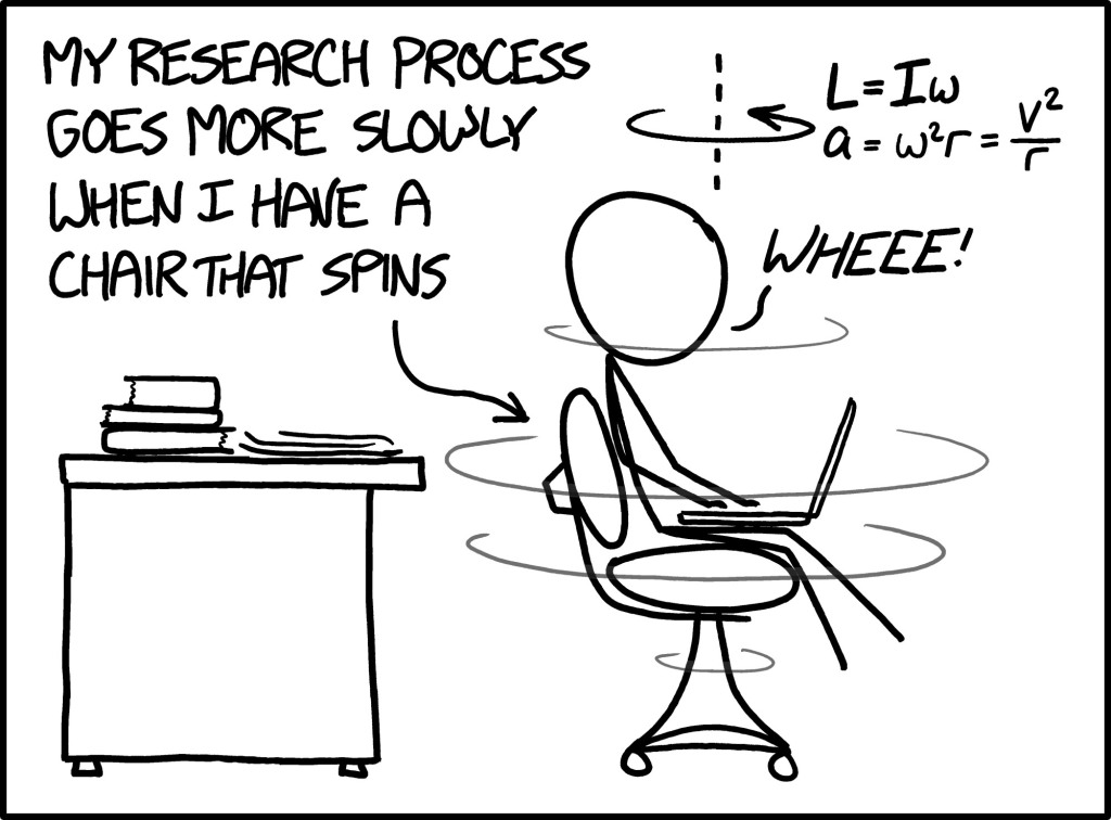 research quality v/s chair type