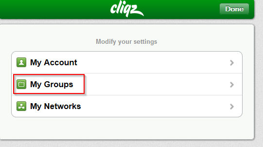 various cliqz settings in Firefox