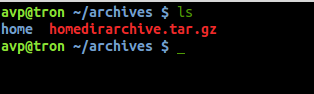 extracted tar file in linux
