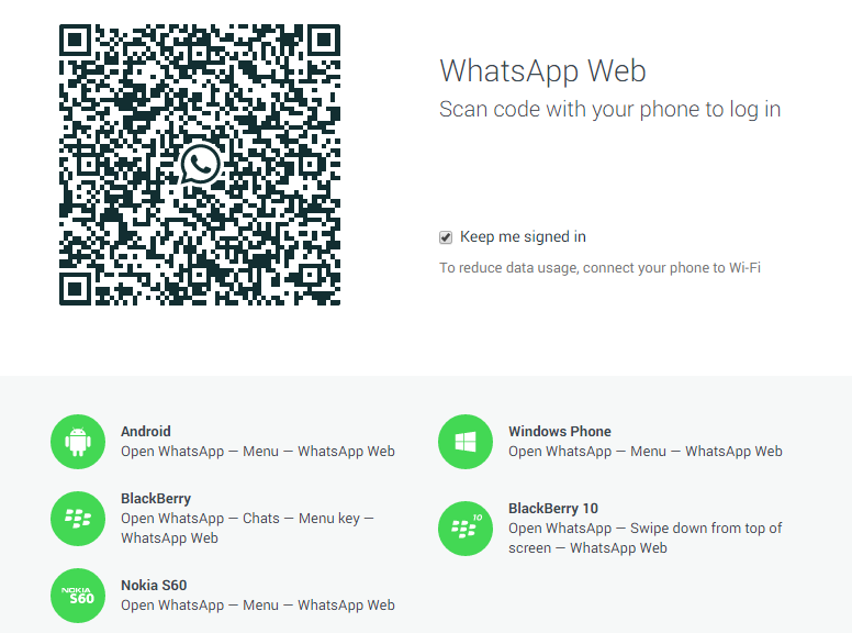 web version of WhatsApp