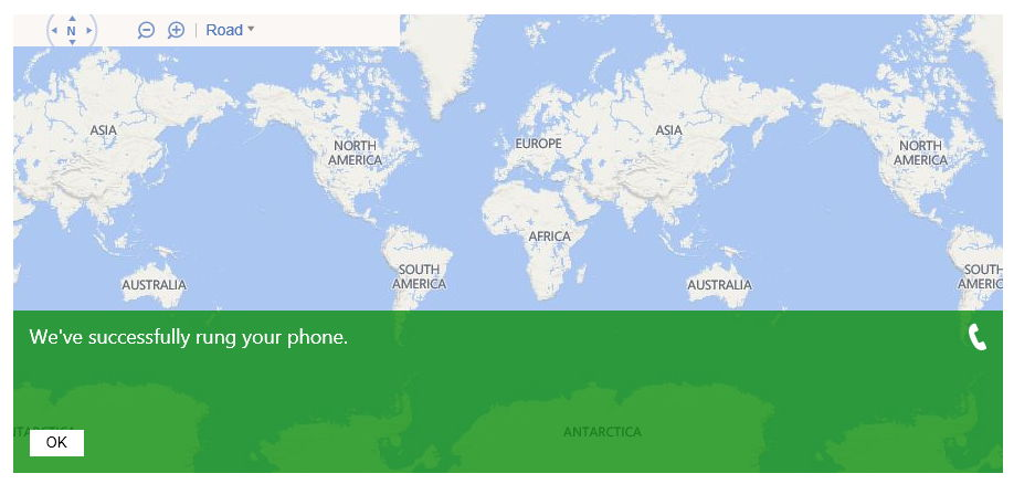 remote rings were sent successfully from Windows Phone web service