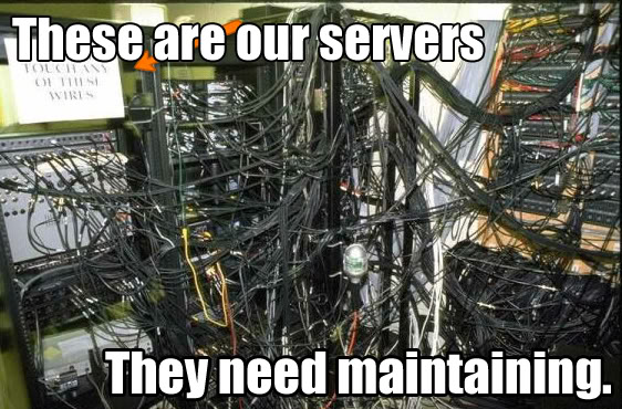 server maintenance : funny