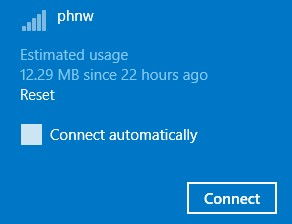 data usage stats for metered connections in Windows 8