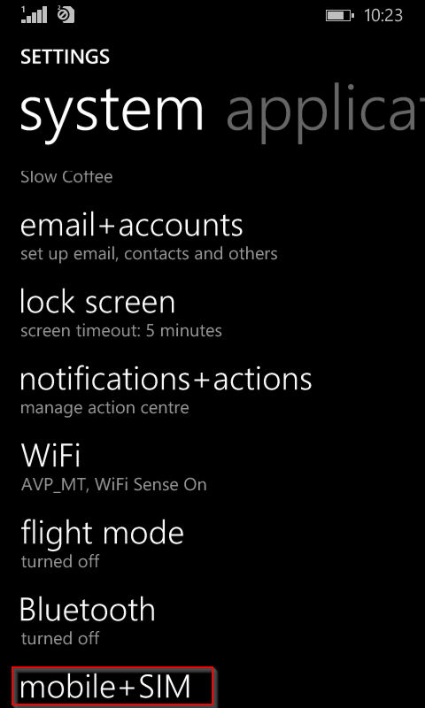 turning on data connection in windows phone