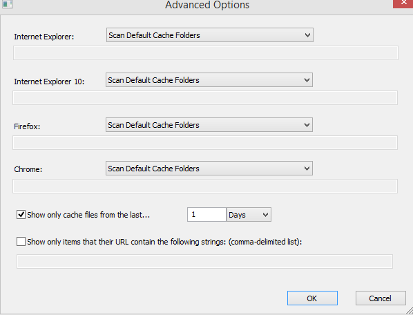 advanced options for imagecacheviewer