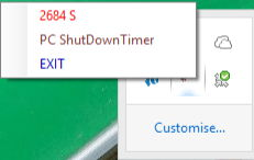 pc shutdown timer with active countdown timer to shutdown