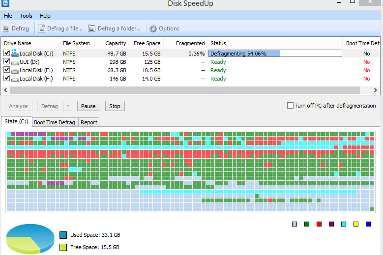 disk speedup interface
