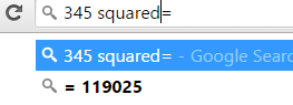 find the square of any number in Google Chrome