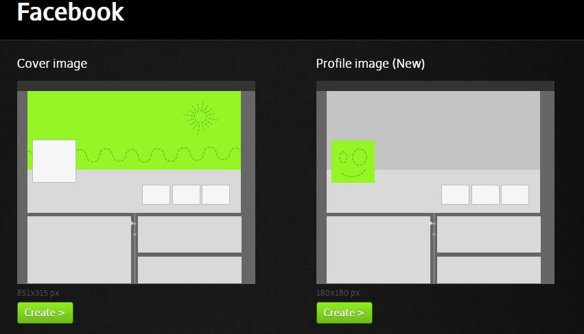 creating a cover image and a profile image for Facebook