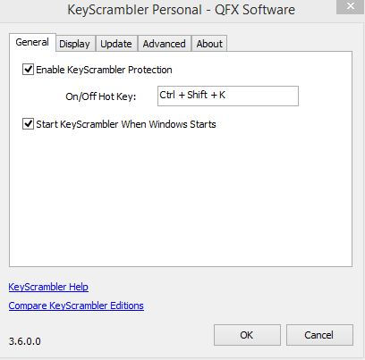 keyscrambler options