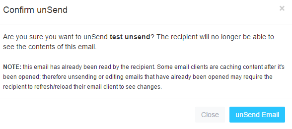 unsending email