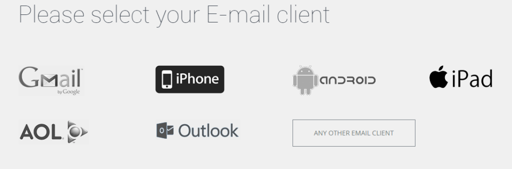 selecting email client