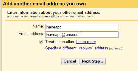 gmail setup for unsend.it