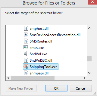 path to snipping tool in Windows 8