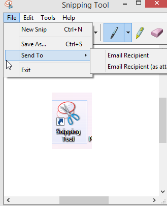 saving screenshots taken using snipping tool
