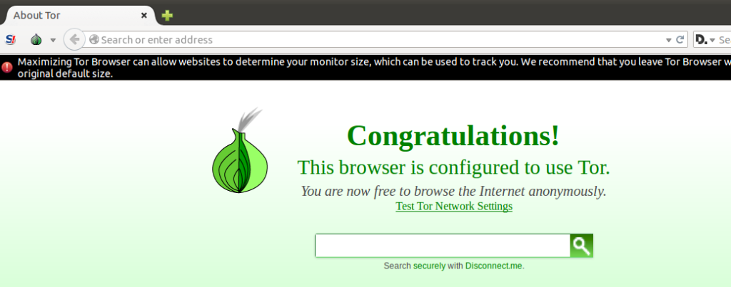 Tor browser ready to use in Ubuntu