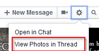 viewing photos in a Facebook conversation