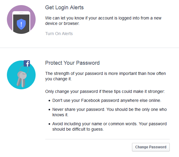 getting Facebook login alerts when signed in from unrecognized devices