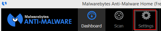 Malwarebytes settings
