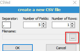 making a new csv file on CSVEd