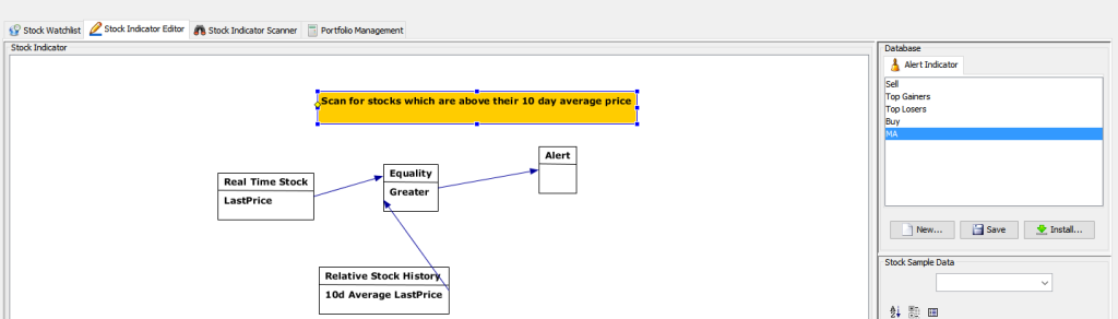 creating a custom screener for stock selection in JStock
