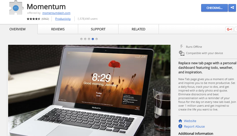 momentum extension for Google Chrome