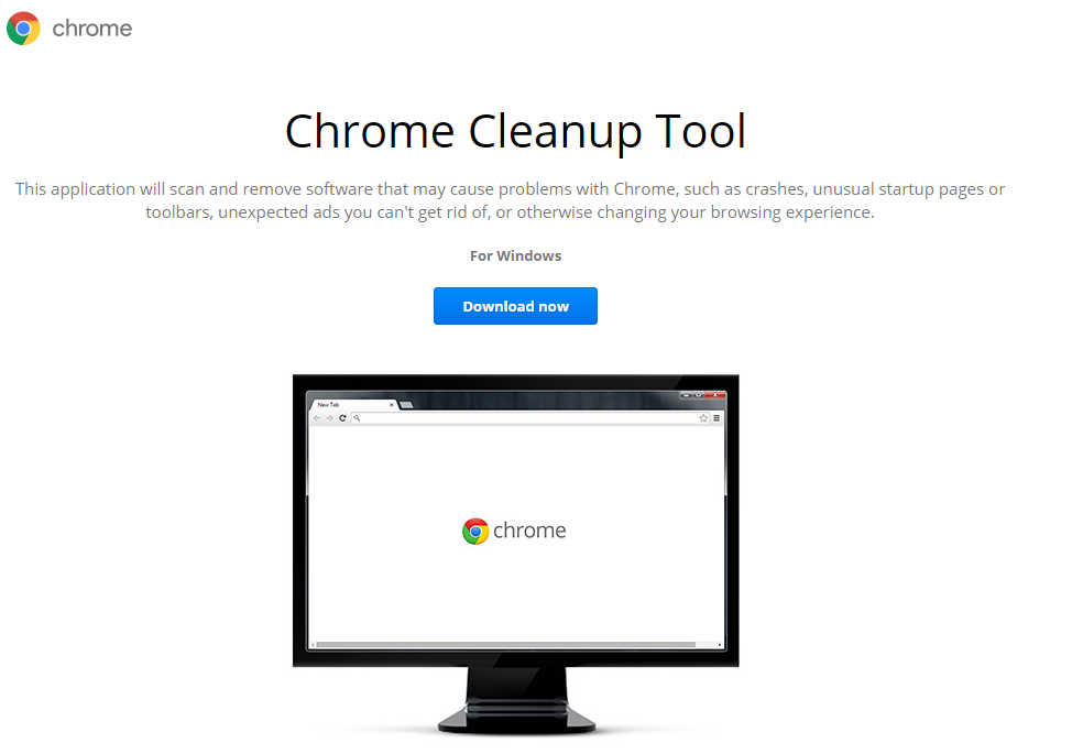 chrome cleanup tool download page