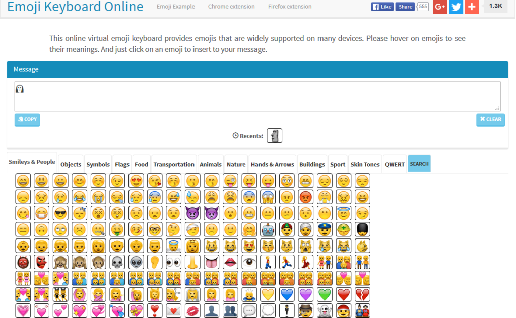 Use Different Emojis In Web Browsers Using This Online Keyboard I