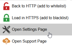 configuring settings in smart HTTPS add-on