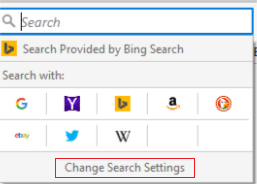 choosing which search engine to use in Firefox