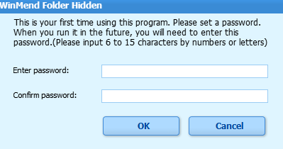 winmend folder hidden master password