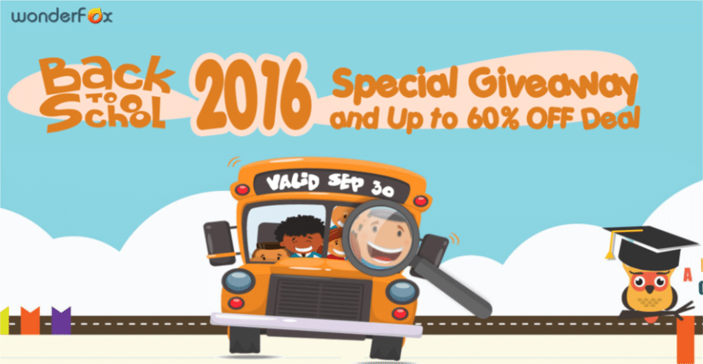 WonderFox Back To School 2016 Giveaway