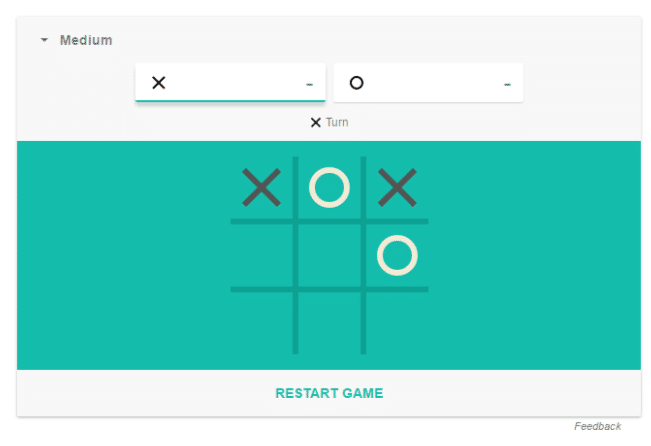 playing tic tac toe through google search