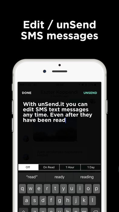 edit and unsend text messages using unsend.it iphone app