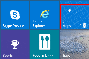 Windows 10 Maps app