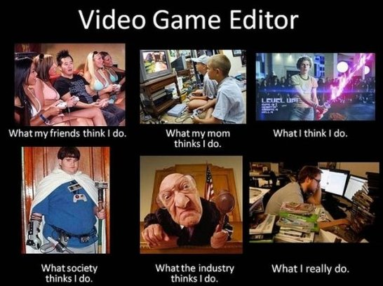 what video game editors do v/s what people think they do