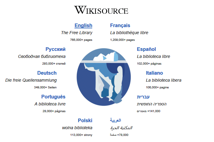 wikisource main page