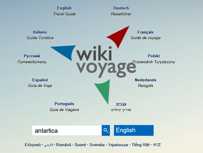 wikivoyage main page