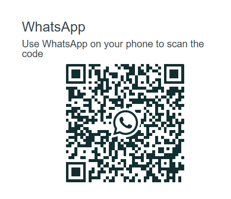 using QR code to sign-in to WhatsApp web