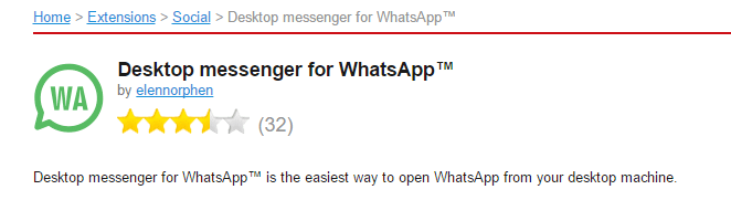 Opera browser version for desktop messenger for WhatsApp