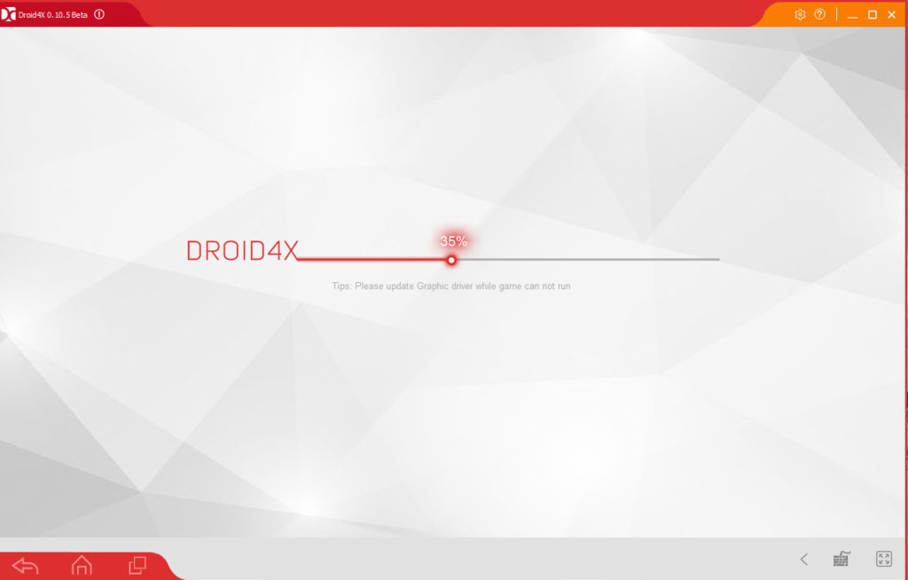 droid4x launch screen