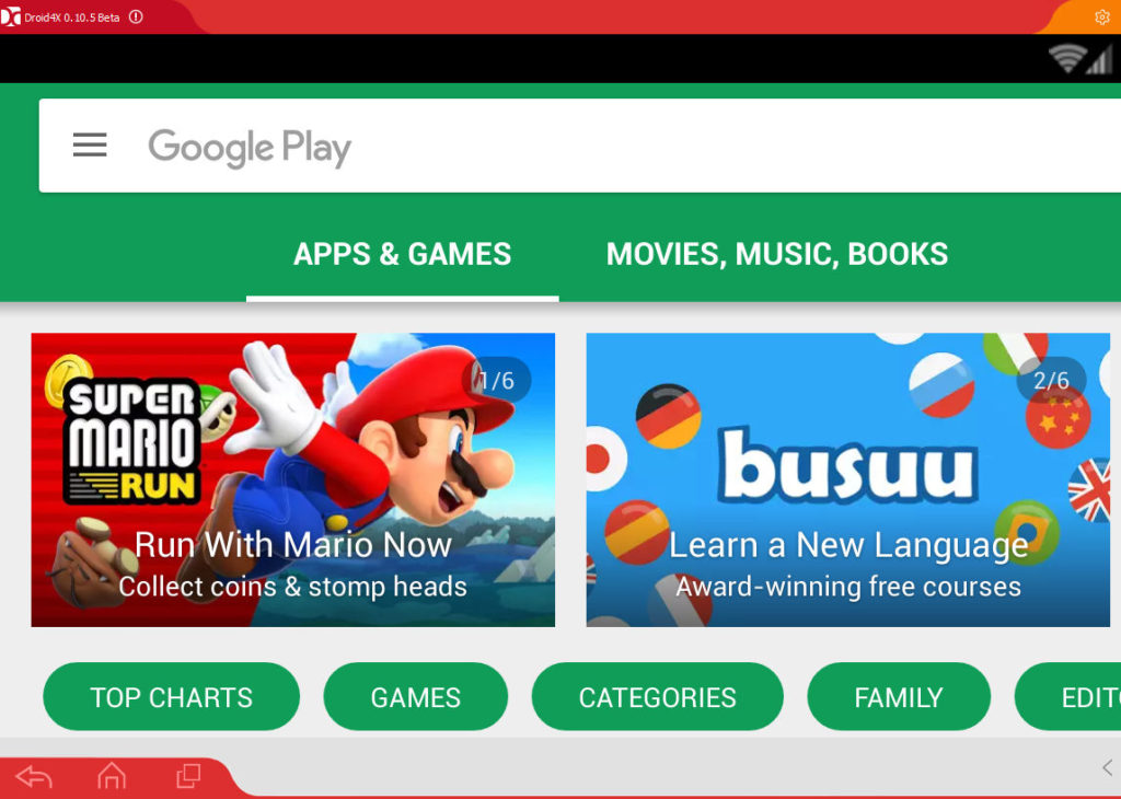 download Android apps and run them on Windows PC using Droid4X