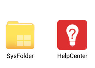sysfolder and helpcenter in Drodid4x