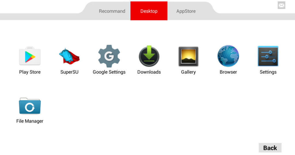 various Android settings and functions in droid4x