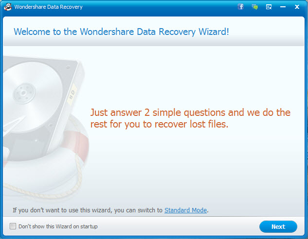 Wondershare Data Recovery Wizard