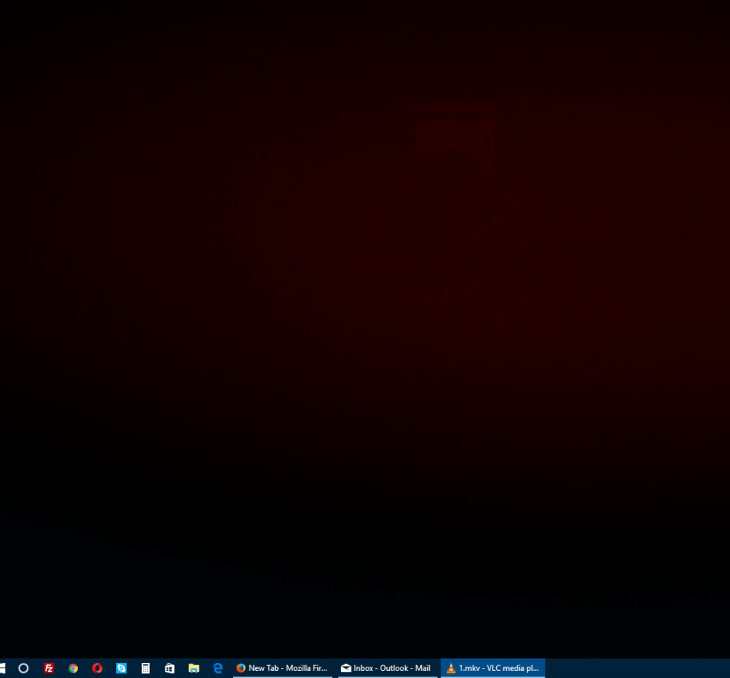 taskbar being visible even in full screen